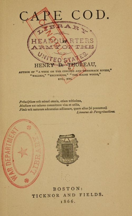 front page of book with War Department stamp